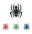 Spider grunge icon set vector