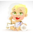 Baby zodiac - sign libra vector
