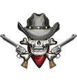 Skull in cowboy hat vector