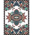 Ukrainian oriental floral ornamental carpet design vector