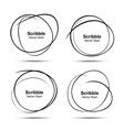 Set of hand drawn scribble circles design elements vector