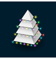 Christmas tree formed pyramide with luminous vector