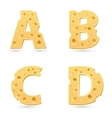 Cheese letters collection vector