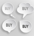Buy white flat buttons on gray background vector