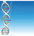 Dna background vector