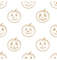 Pumpkins jack o lantern seamless background vector