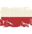 Polish grunge flag vector