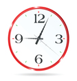 Clock for the room wall in red vector