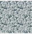 Floral monochrome ornamental seamless pattern vector
