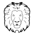Black and white of lion vector