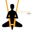 Anti-gravity yoga poses woman silhouette vector