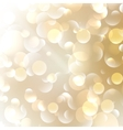 Golden abstract bokeh background vector