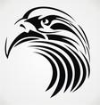 Tribal eagle head vector
