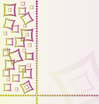 Abstract textile background with square vector