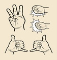 Hand signs 5 vector
