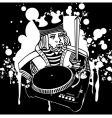 King dj graffiti vector