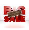 Big sale with wood background for copy space vector