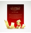 Card with gold ribbon and copy space vector