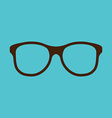 Vintage glasses icon isolated on blue background vector
