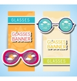 Weather glasses banner vector