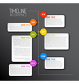 Dark infographic timeline report template vector