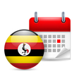 Icon of national day in uganda vector