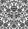 Seamless floral polish folk pattern - wycinanki vector
