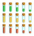 Glass test tubes game progress bar vector