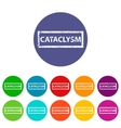 Cataclysm flat icon vector