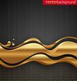 Golden stream waves vector