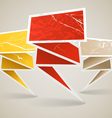 Colorful polygonal vintage origami banners vector