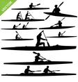 Kayaking silhouettes vector