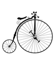 Old black bicycle vector