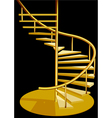 Stairs interior vector