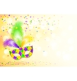 Bright mardi gras carnival mask poster background vector