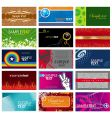 Collection of horizontal business card vector