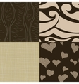 Set of simple seamless patterns vector
