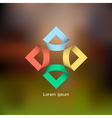 Colorful abstract icon for design vector