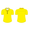 Blank shirt with shot sleeves template for men vector