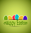 Happy easter cards vector