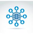 Water system conceptual symbol blue earth arrows vector