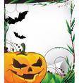 Bats and evil jack o lantern vector