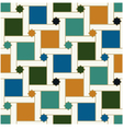 Seamless geometric islamic squared stars pattern vector