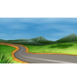 A narrow road vector
