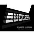 Te word success on the stairs vector