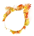 Autumn abstract floral background with copyspace vector