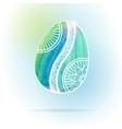 Watercolor easter egg vector