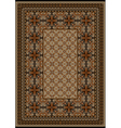 Rug with original pattern with brown shades vector