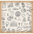 Business and finance hand drawn vector
