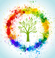 Color paint splashes eco background vector